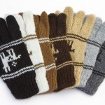 Children's fingerless Alpaca gloves